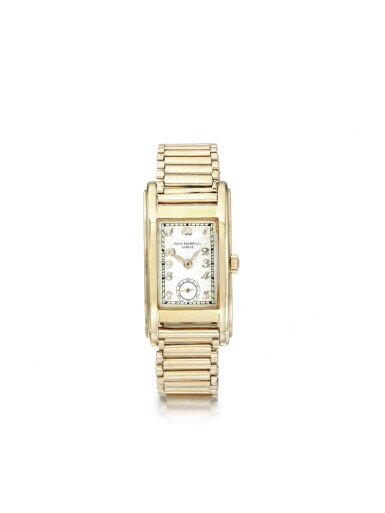 PATEK PHILIPPE | REF 492 A YELLOW GOLD RECTANGULAR WRISTWATCH MADE IN 1937