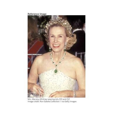 View 2. Thumbnail of Lot 212. Silver-Topped Gold, Ruby and Diamond Tiara [黃金鍍銀鑲紅寶石配鑽石皇冠].