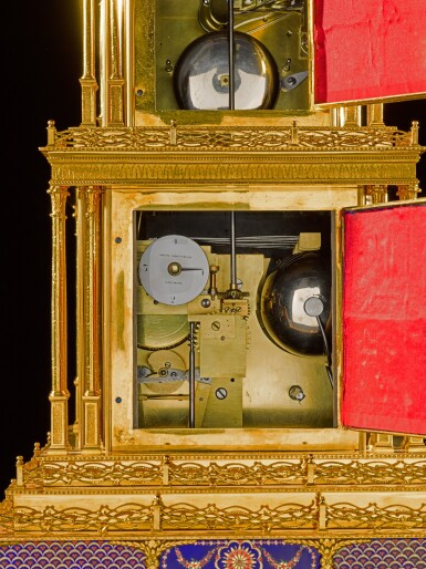 View 11. Thumbnail of Lot 16. John Mottram. A George III gilt-brass and enamel musical automaton clock for the Chinese market, London, circa 1790.