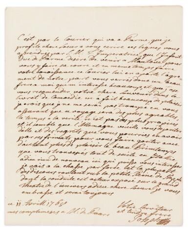 View 2. Thumbnail of Lot 8. JOSEPH II. Réunion de 19 LAS à sa sœur Marie-Caroline de Naples et de Sicile. 9 avril -17 novembre 1768. 32 p..