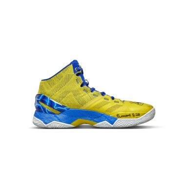 View 3. Thumbnail of Lot 801. Under Armour Stephen Curry Game Worn Dual Signed Curry 2.