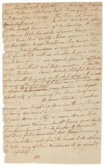 Clinton, James. Autograph letter signed, [ca. 1779] a draft to friendly Indian tribes before the Sullivan Expedition