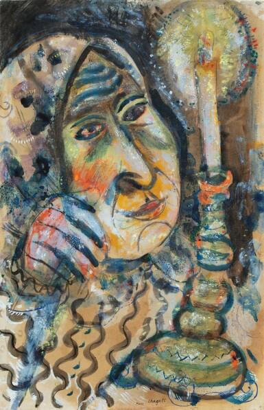 View 1. Thumbnail of Lot 128. MARC CHAGALL | FEMME À LA BOUGIE OU MA GRAND-MÈRE.