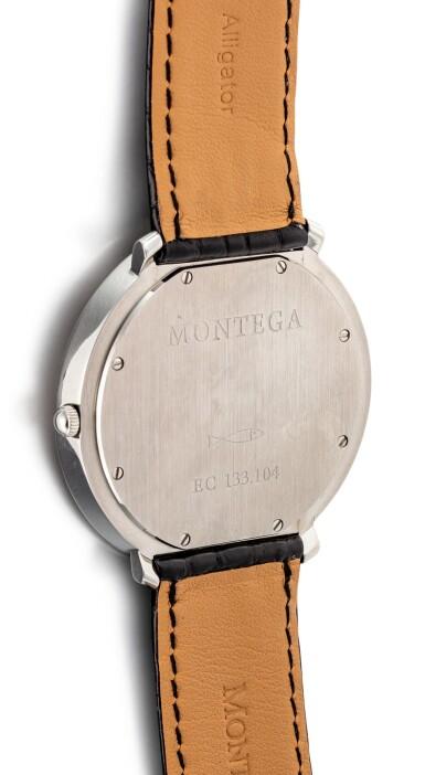 MONTEGA | A STAINLESS STEEL WRISTWATCH, CIRCA 1999