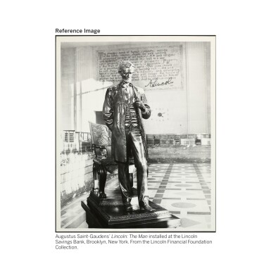 View 4. Thumbnail of Lot 40. AUGUSTUS SAINT-GAUDENS | ABRAHAM LINCOLN: THE MAN (STANDING LINCOLN).