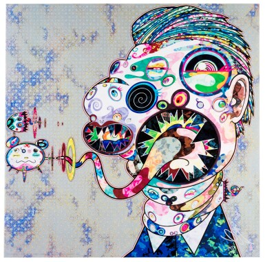 View 2. Thumbnail of Lot 14.  TAKASHI MURAKAMI | HOMAGE TO FRANCIS BACON (STUDY FOR HEAD OF ISABEL RAWSTHORNE; AND GEORGE DYER).