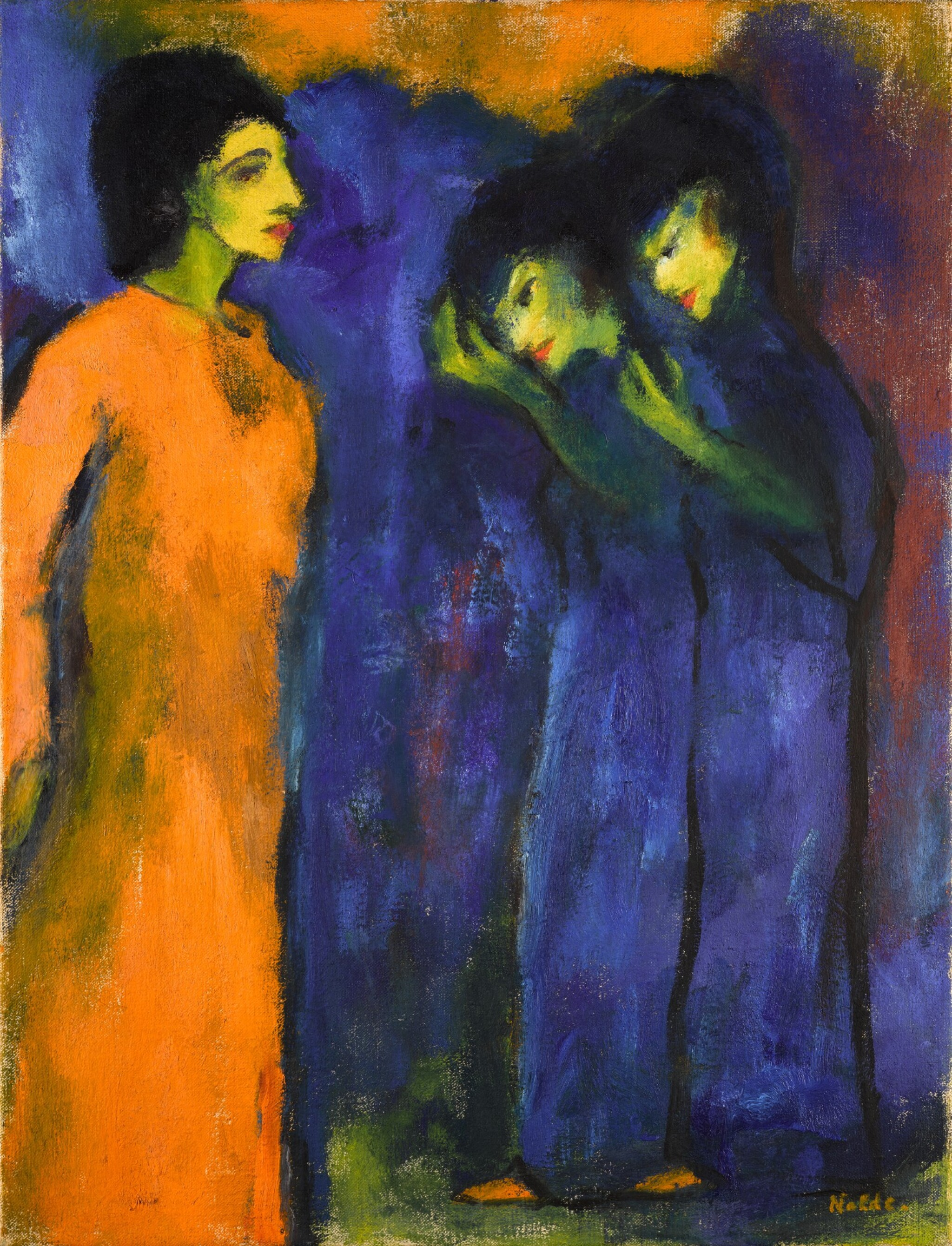View full screen - View 1 of Lot 38.  EMIL NOLDE | HULDIGUNG (HOMAGE).