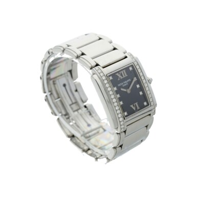 View 3. Thumbnail of Lot 75. REFERENCE 4910/010 TWENTY-4 A STAINLESS STEEL AND DIAMOND-SET BRACELET WATCH, MADE IN 2001.