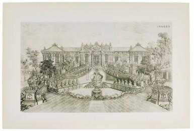 View 2. Thumbnail of Lot 362. A SET OF TWENTY PRINTS OF PALACES, PAVILIONS AND GARDENS AT YUANMING YUAN | 巴黎、1977年 《郎世寧圓明園西洋樓》 一組二十幅 水墨紙本.