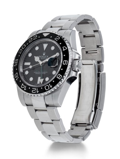 View 2. Thumbnail of Lot 2. ROLEX | GMT-MASTER II, REF 116710 STAINLESS STEEL DUAL TIME WRISTWATCH WITH DATE AND BRACELET CIRCA 2010.