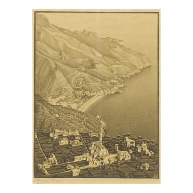 View 1. Thumbnail of Lot 78. M. C. ESCHER | RAVELLO AND THE COAST OF AMALFI (BOOL/KIST/LOCHER/WEIRDA 152).