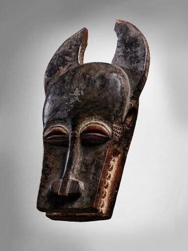 View 3. Thumbnail of Lot 62. Baule Mask, Côte d'Ivoire.