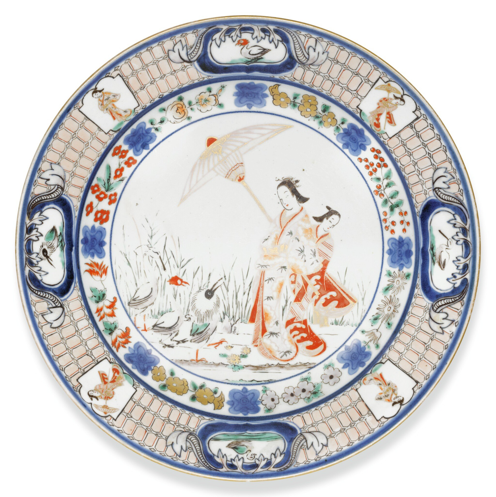 View full screen - View 1 of Lot 108. A PAIR OF IMARI DISHES, EDO PERIOD, 18TH CENTURY.