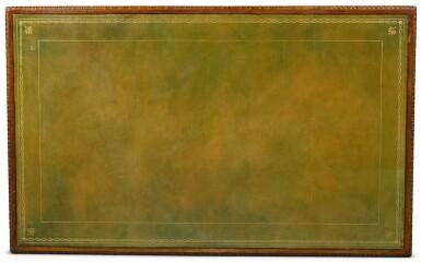 View 5. Thumbnail of Lot 150. A George III mahogany pedestal desk, circa 1760.