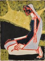 MAQBOOL FIDA HUSAIN | Untitled (Praying Woman)