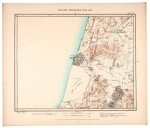 Conder and Kitchener. Map of Western Palestine. 1880