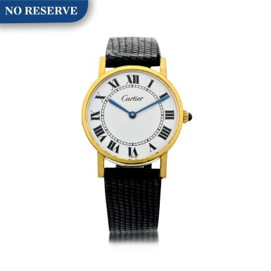 REFERENCE 1389 ROTONDE DE CARTIER A YELLOW GOLD PLATED WRISTWATCH, CIRCA 1980