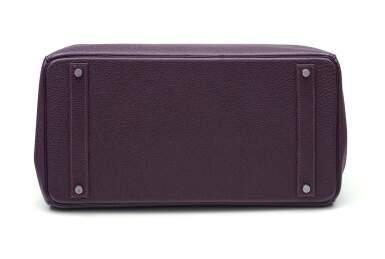 View 5. Thumbnail of Lot 367. Raisin Birkin 40cm in Togo Leather with Palladium Hardware, 2008.