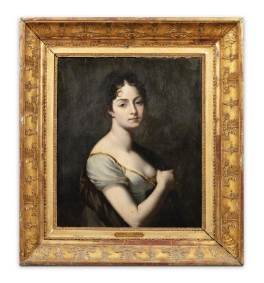 View 2. Thumbnail of Lot 64. Portrait of Adrienne de Canisy, Duchess of Vicence (1785-1876).