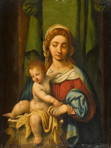 View 1. Thumbnail of Lot 105. Madonna and Child.
