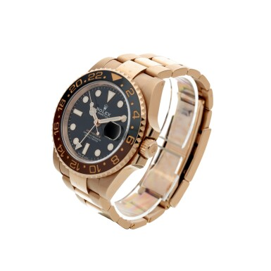 View 2. Thumbnail of Lot 15. ROLEX | REFERENCE 126715 GMT-MASTER II 'ROOT BEER' A PINK GOLD AUTOMATIC DUAL TIME ZONE WRISTWATCH WITH DATE AND BRACELET, CIRCA 2018.