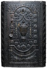 A CAST AND WROUGHT-IRON SAFE, PROBABLY NUREMBERG, FOR THE FRENCH MARKET, CIRCA 1770