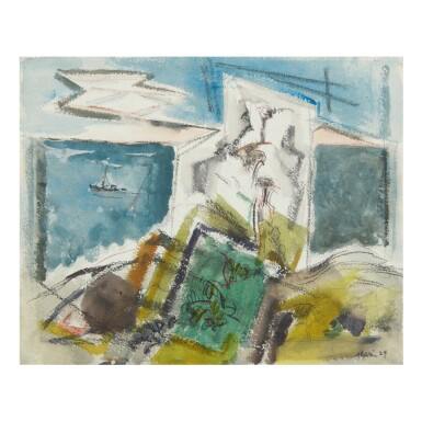 View 1. Thumbnail of Lot 27. JOHN MARIN | DEER ISLAND, MAINE (FROM ON A LEDGE).
