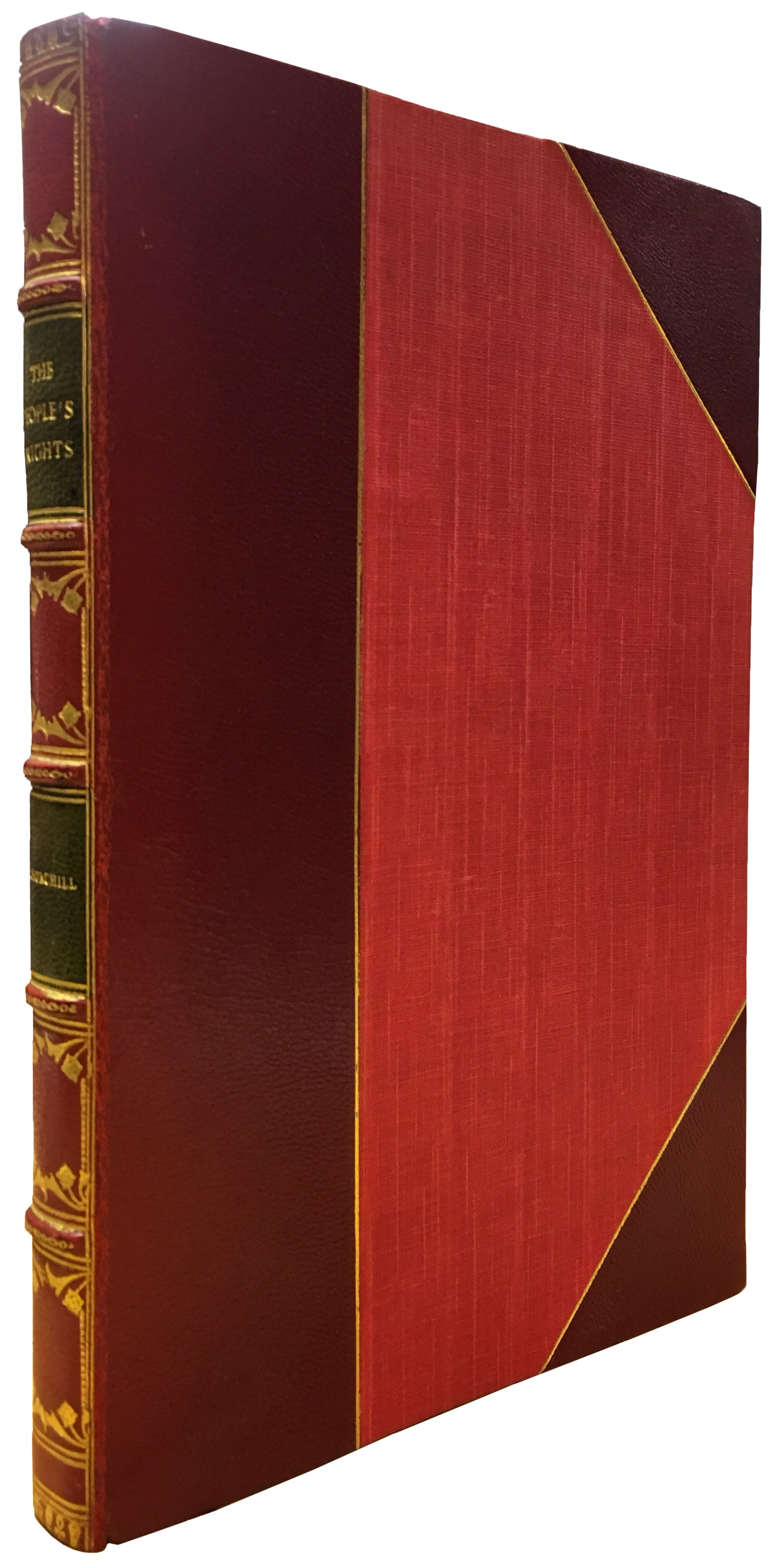 View full screen - View 1 of Lot 25. Winston S. Churchill   The People's Rights. London: Hodder & Stoughton, 1910.
