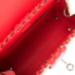 HERMÈS | ROUGE DE COEUR MINI KELLY PICNIC BAG OF OSIER WICKER AND SWIFT LEATHER