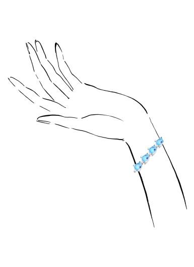 View 4. Thumbnail of Lot 36. MICHELE DELLA VALLE | BLUE TOPAZ, DIAMOND AND DIAMOND BRACELET.