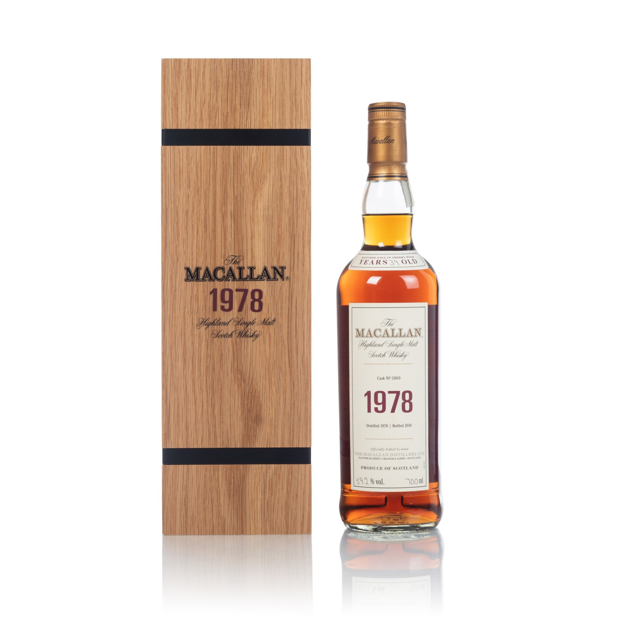View full screen - View 1 of Lot 47. The Macallan Fine & Rare 39 Year Old 59.2 abv 1978 (1 BT70).