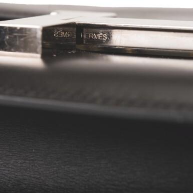 Hermès Black Constance 23cm of Box Leather with Palladium Hardware