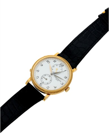 View 6. Thumbnail of Lot 38. REFERENCE 5034 TRAVEL TIME A YELLOW GOLD DUAL TIME WRISTWATCH WITH 24 HOUR INDICATION, MADE IN 1997.