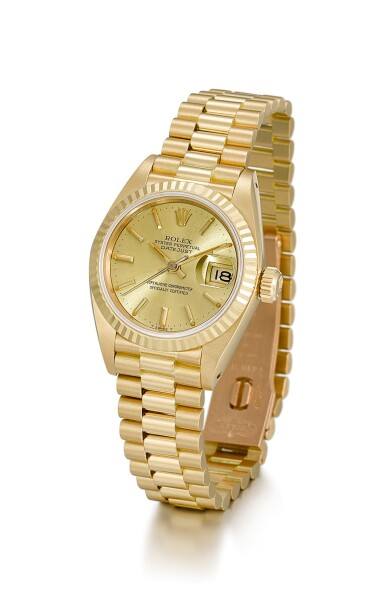 View 2. Thumbnail of Lot 9. ROLEX |  DATEJUST, REFERENCE 69178, A YELLOW GOLD WRISTWATCH WITH DATE AND BRACELET, CIRCA 1983.