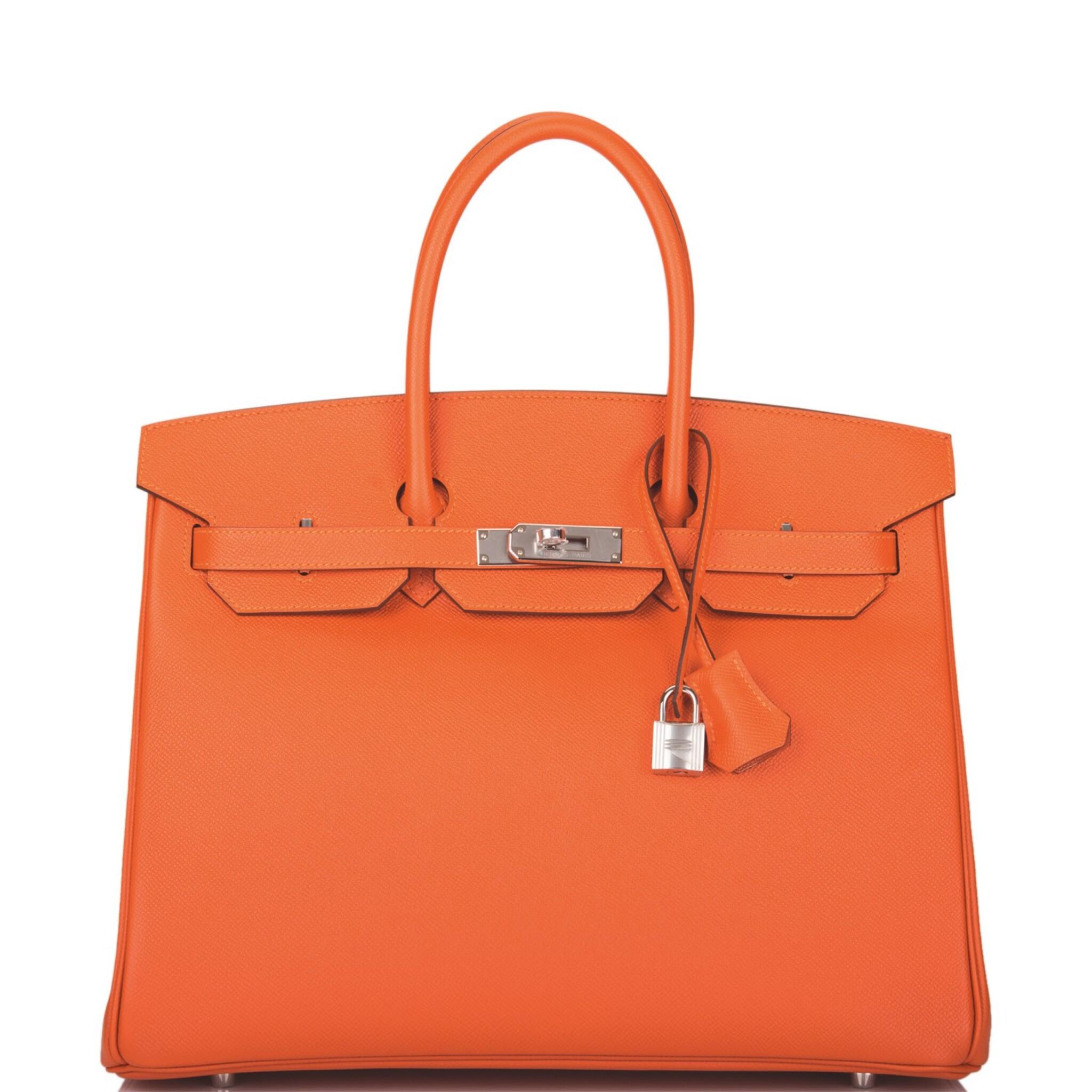 View full screen - View 1 of Lot 65. Hermès Feu Birkin 35cm of Epsom Leather with Palladium Hardware .