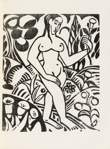 View 5. Thumbnail of Lot 126.  L'Enchanteur pourrissant. 1909. Exemplaire sur vélin de Paul Bonet, relié par et pour lui-même.