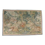 A FLEMISH GAMEPARK TAPESTRY WITH ORPHEUS CALMING THE BEASTS CIRCA 1600