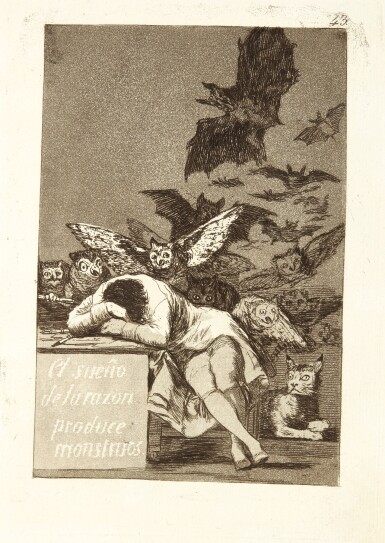 View 5. Thumbnail of Lot 38.  FRANCISCO JOSÉ DE GOYA Y LUCIENTES | LOS CAPRICHOS (DELTEIL 38-117; HARRIS 36-115).