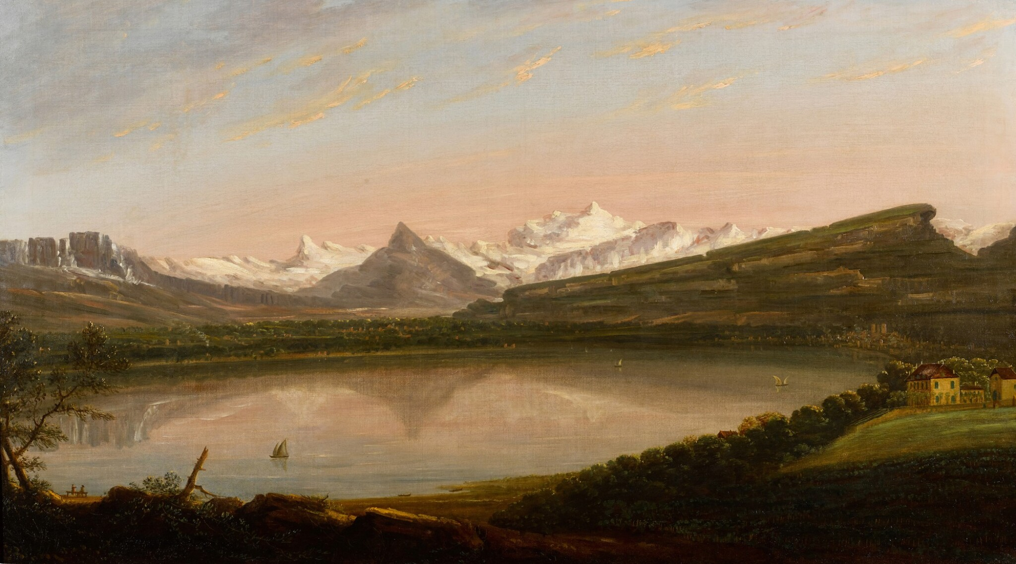 View full screen - View 1 of Lot 31. EDMUND GARVEY, R.A.  |  A VIEW OF LAKE GENEVA WITH THE MONT SALÈVE AND LE MÔLE, MONT BLANC BEYOND.