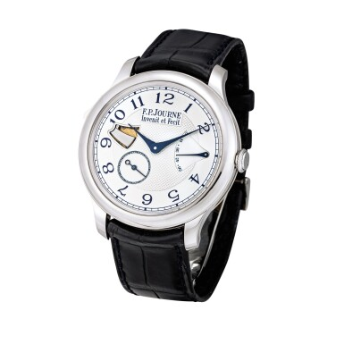 View 2. Thumbnail of Lot 2221. F.P. Journe | Répétition Minutes Souveraine, A stainless steel minute repeating wristwatch with power reserve indication, Circa 2011 | Répétition Minutes Souveraine 精鋼三問腕錶,備動力儲備顯示,約2011年製.