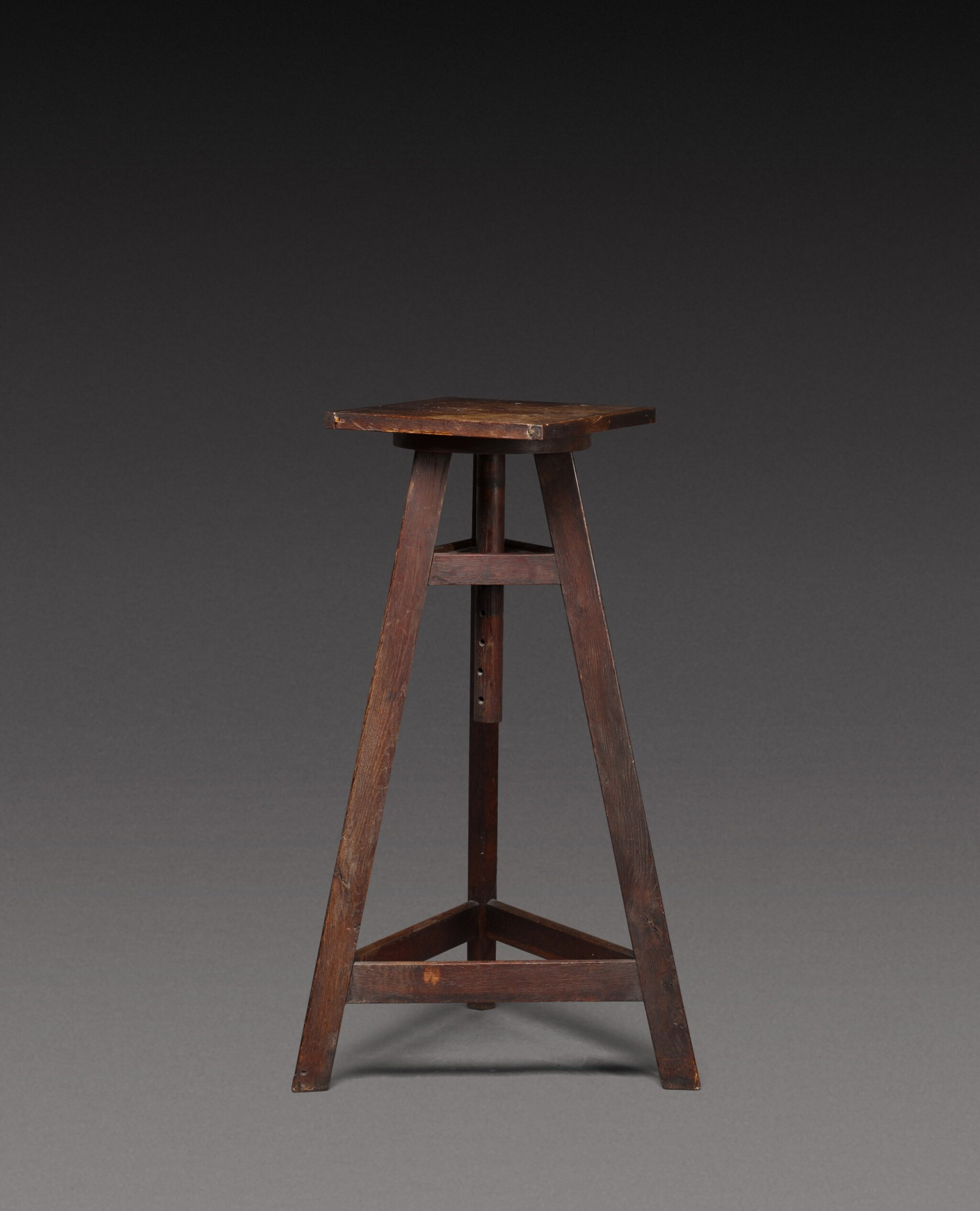 View 1 of Lot 181. A sculptor's oak tripod stand, probably French, 20th century.