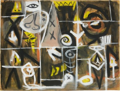 View 1. Thumbnail of Lot 217. ADOLPH GOTTLIEB   UNTITLED.