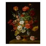 JAKOB BOGDÁNY | STILL LIFE OF FLOWERS IN A VASE