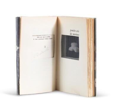 View 2. Thumbnail of Lot 137. Farce. 1979. Un des 50 exemplaires de luxe (n° 3/50). Livre-objet comportant un sucre taillé et grillagé..