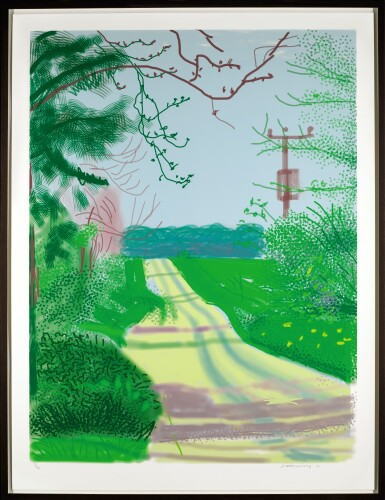 View 2. Thumbnail of Lot 57. DAVID HOCKNEY | THE ARRIVAL OF SPRING IN WOLDGATE, EAST YORKSHIRE IN 2011 - 23 APRIL 2011.
