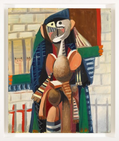 View 2. Thumbnail of Lot 851. GEORGE CONDO | URBAN FIGURE COMPOSITION.