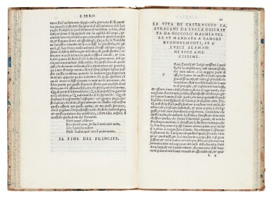 View 3. Thumbnail of Lot 169. Machiavelli, Il Principe, Florence, 1532, later Danish half calf.