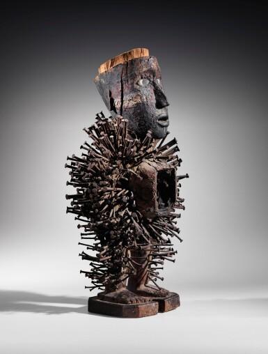 View 3. Thumbnail of Lot 46. Statue nkonde, Kongo Vili, République Démocratique du Congo | Kongo Vili nkonde figure, Democratic Republic of the Congo.