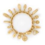 Pharmaceutical Pills with Diamond Skull, Charm Bracelet