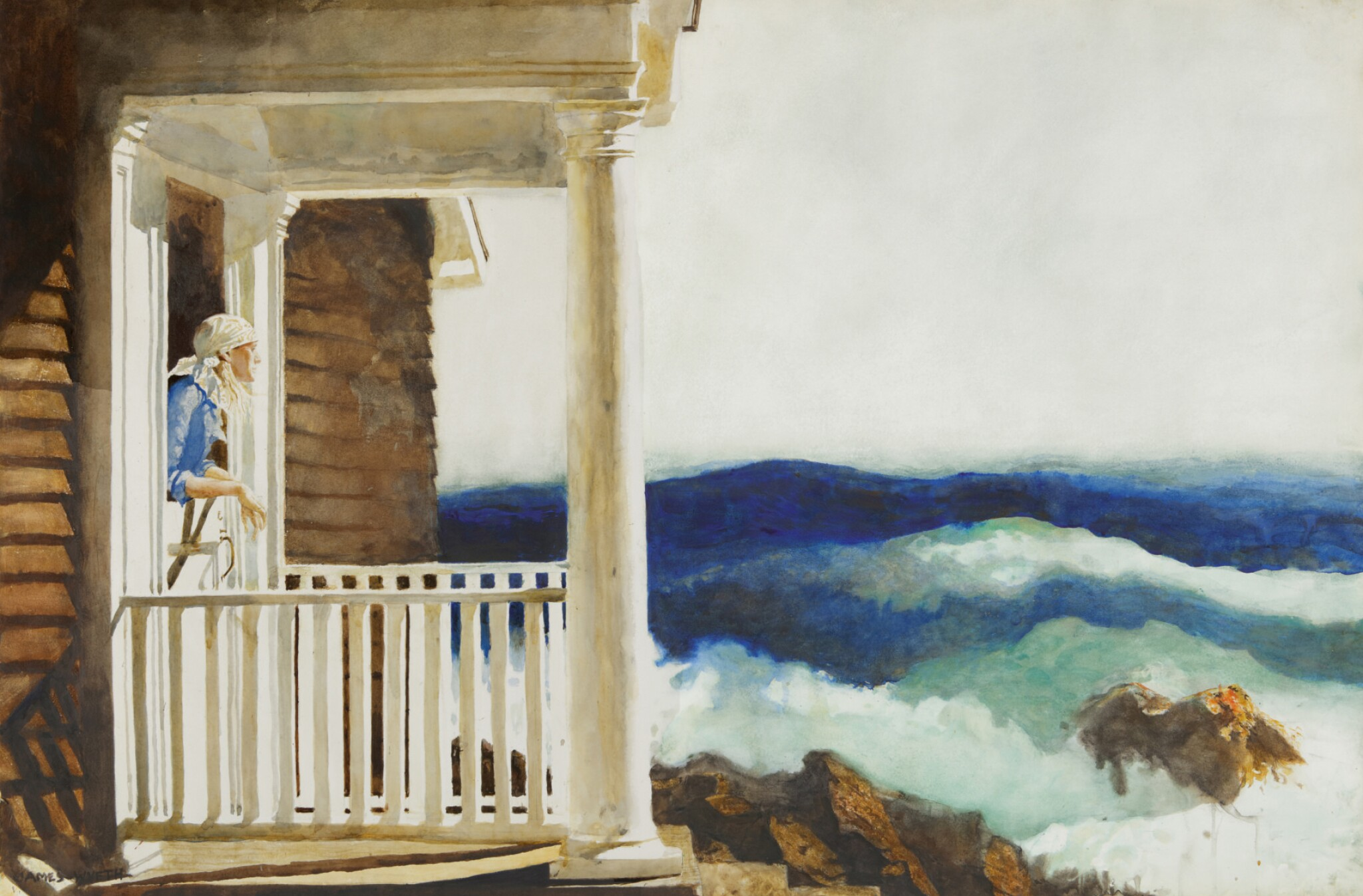 View full screen - View 1 of Lot 8. JAMIE WYETH   SURF WATCHERS.